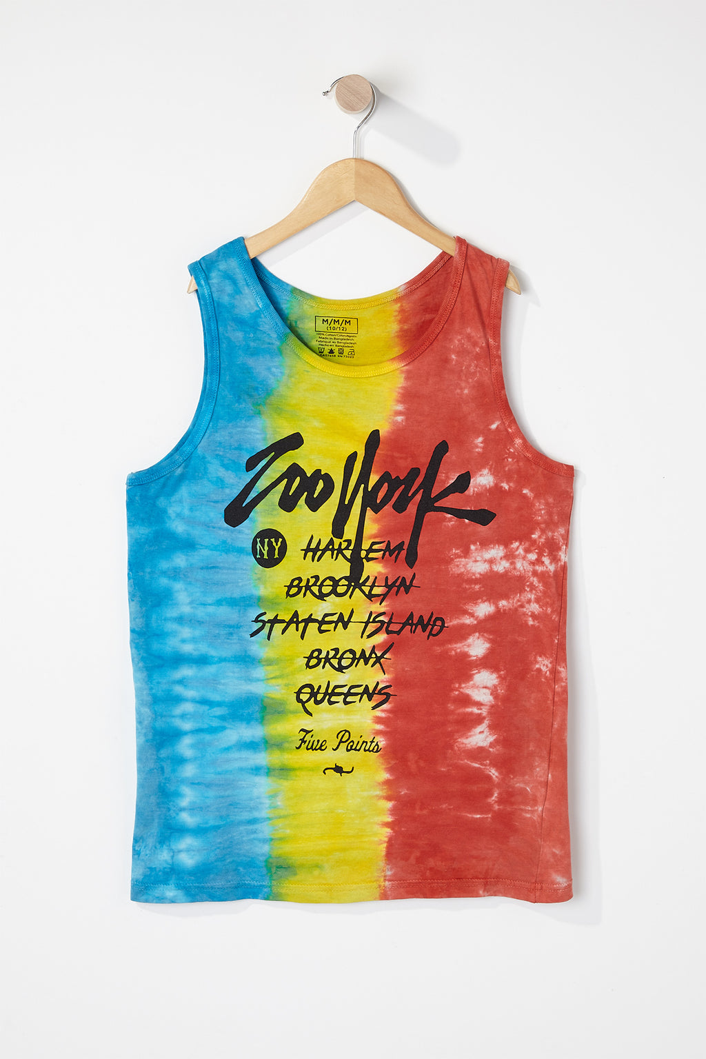 Zoo York Boys Tie Dye Front Logo Tank Top
