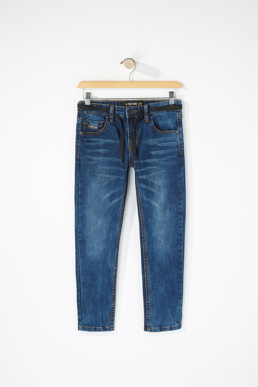 Zoo York Boys Skinny Dark Blue Jeans