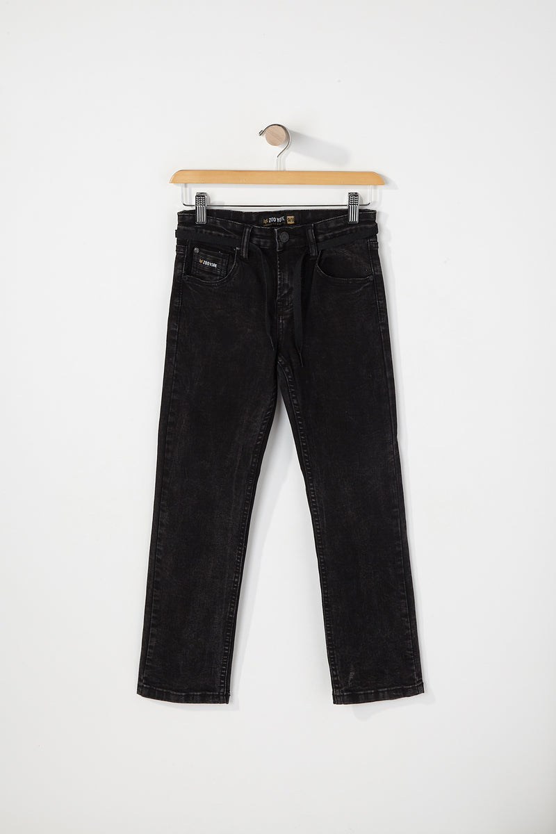 Zoo York Boys Slim Black Jeans