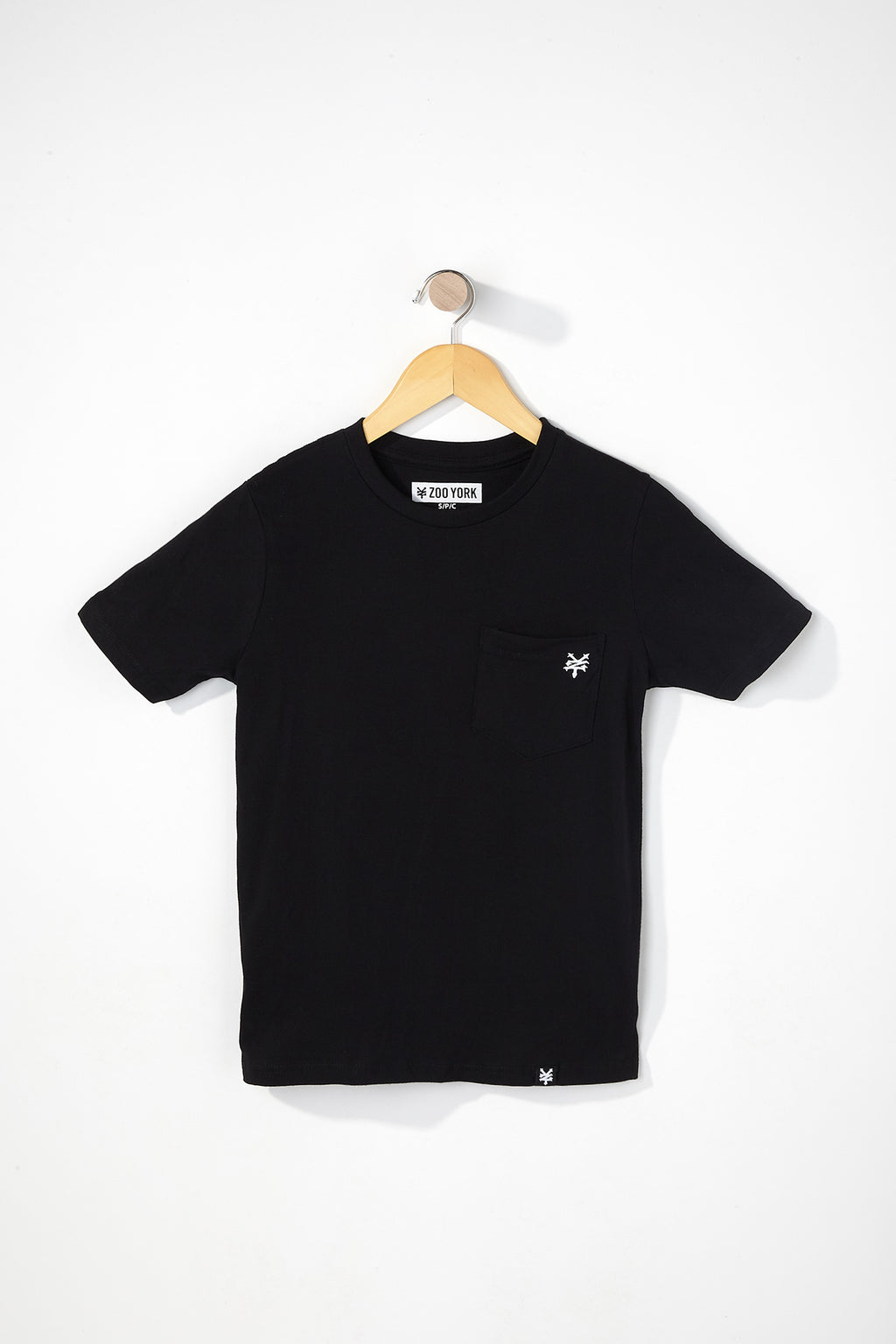Zoo York Boys Solid Pocket T-Shirt