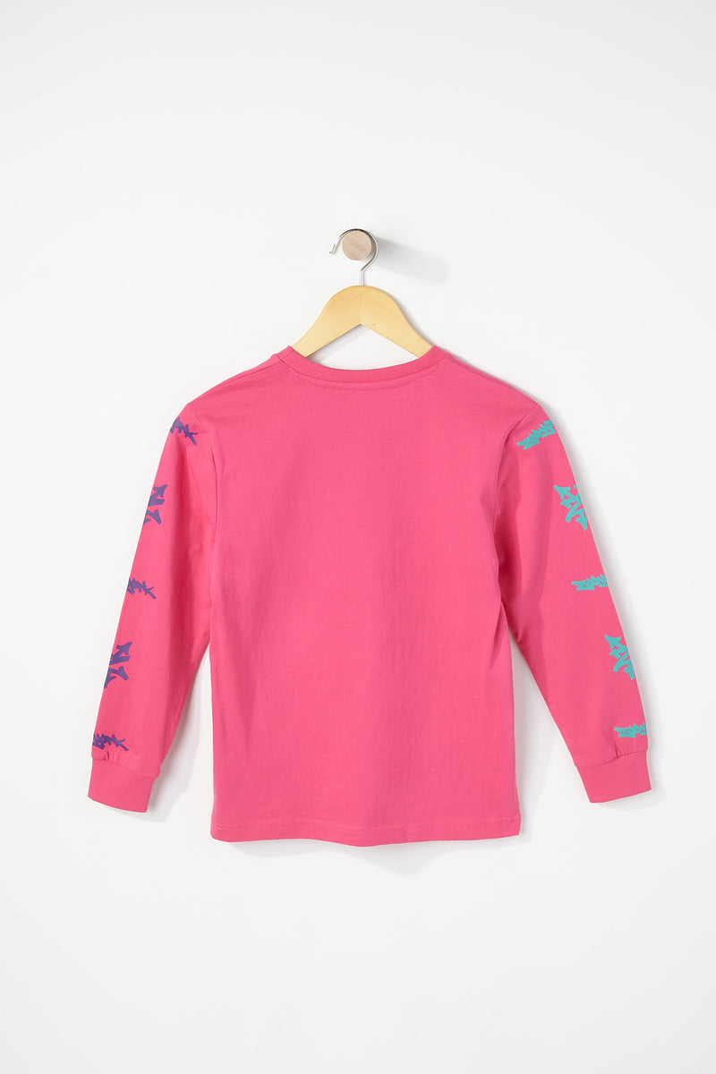 Zoo York Boys Cotton Circle Logo Long Sleeve