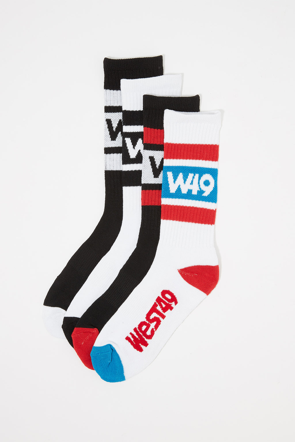 West49 Boys Athletic Crew Socks (4 Pairs)