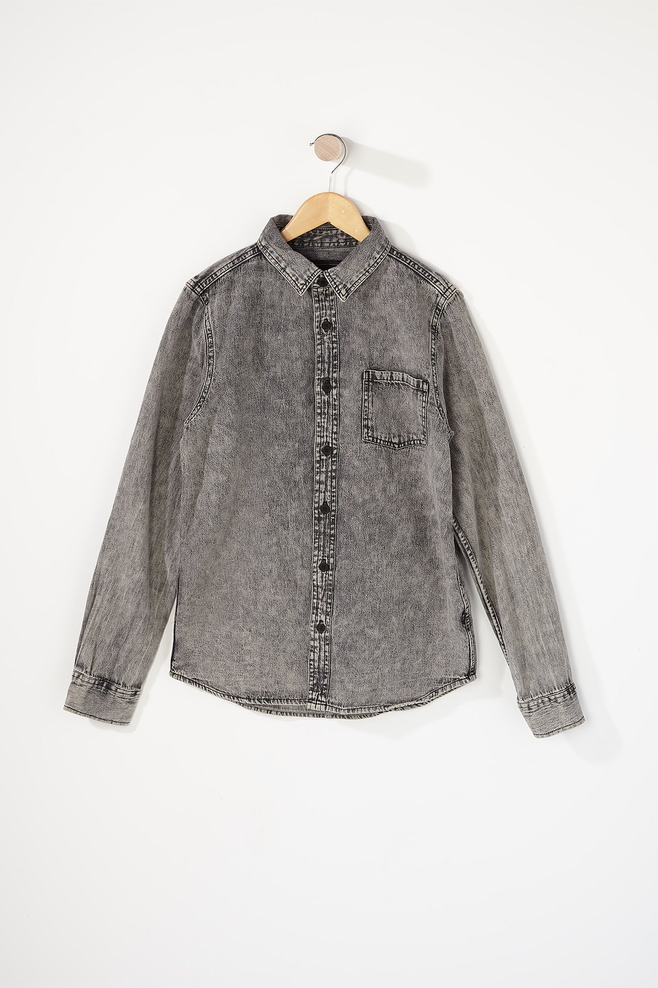 West49 Boys Denim Button-Up Shirt