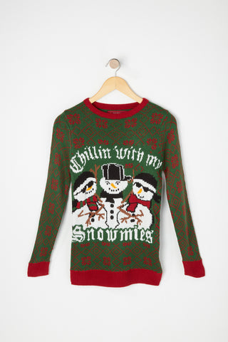 West49 Boys Snowmies Ugly Christmas Sweater