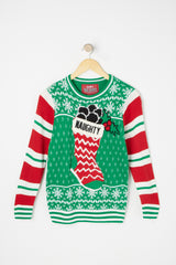 West49 Boys Naughty Stocking Ugly Christmas Sweater