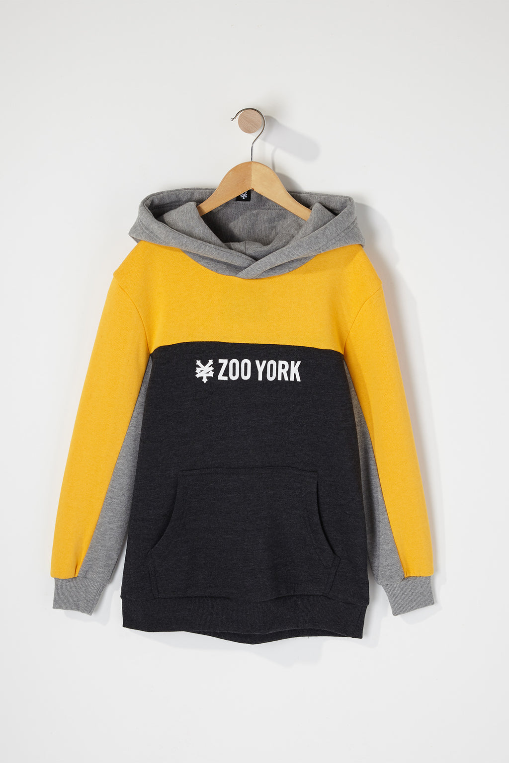 Zoo York Boys Colour Block Popover Hoodie