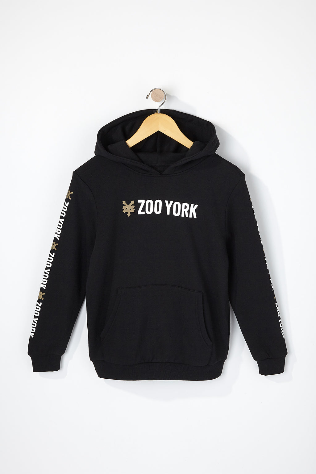 Zoo York Boys Solid Box Logo Popover Hoodie
