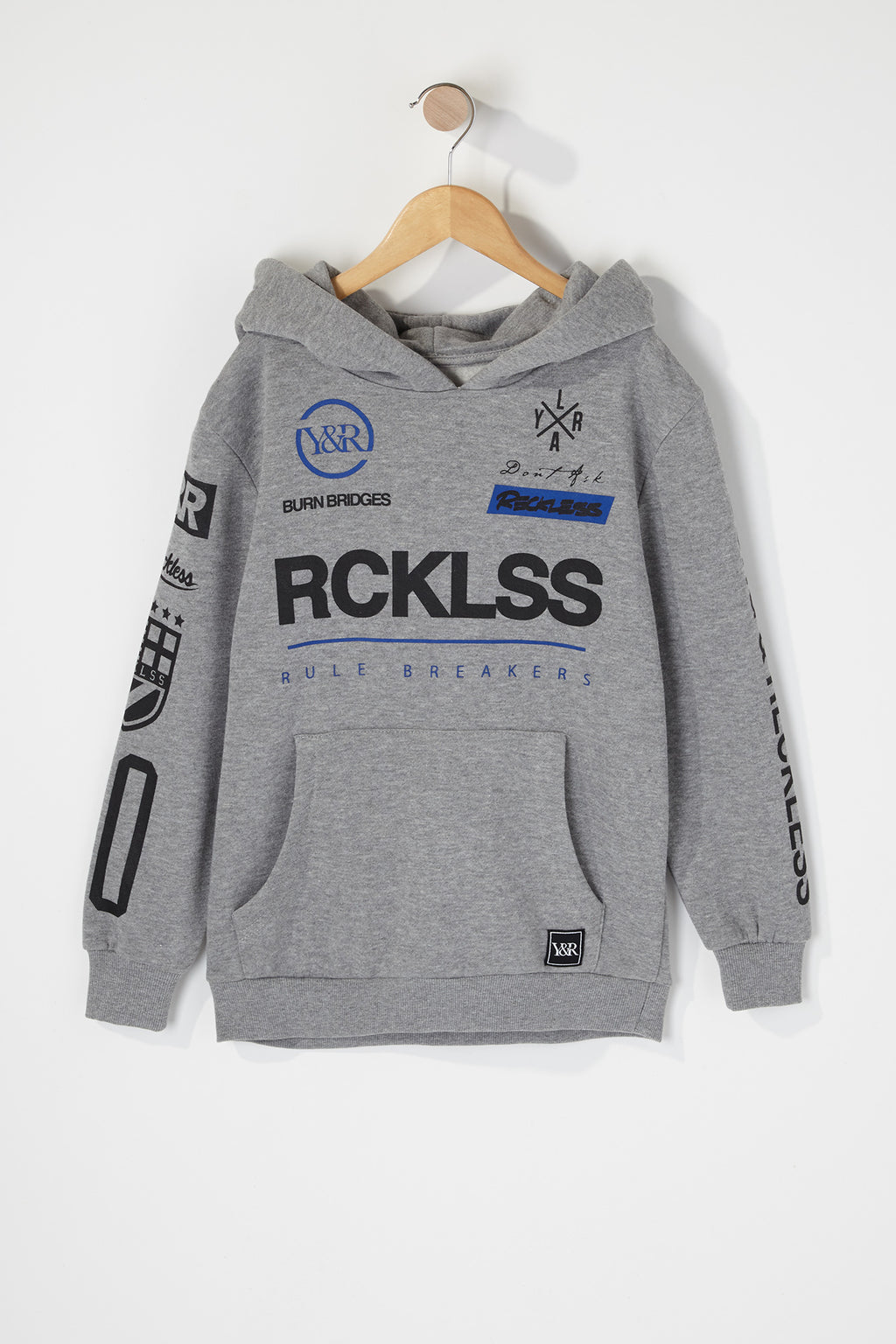 Young & Reckless Boys Solid Racing Hoodie