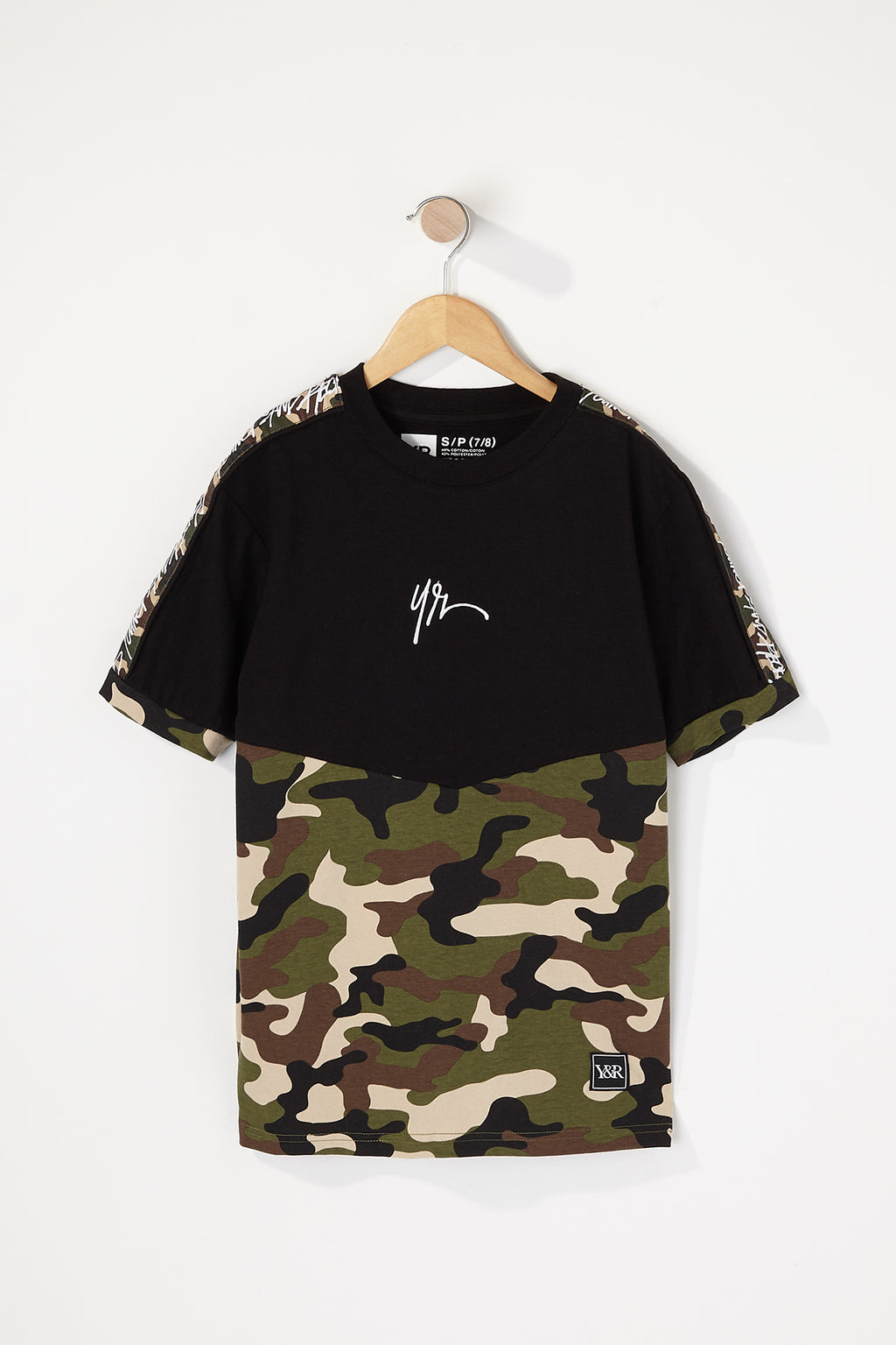 Young & Reckless Boys Camo Sleeve Tape T-Shirt