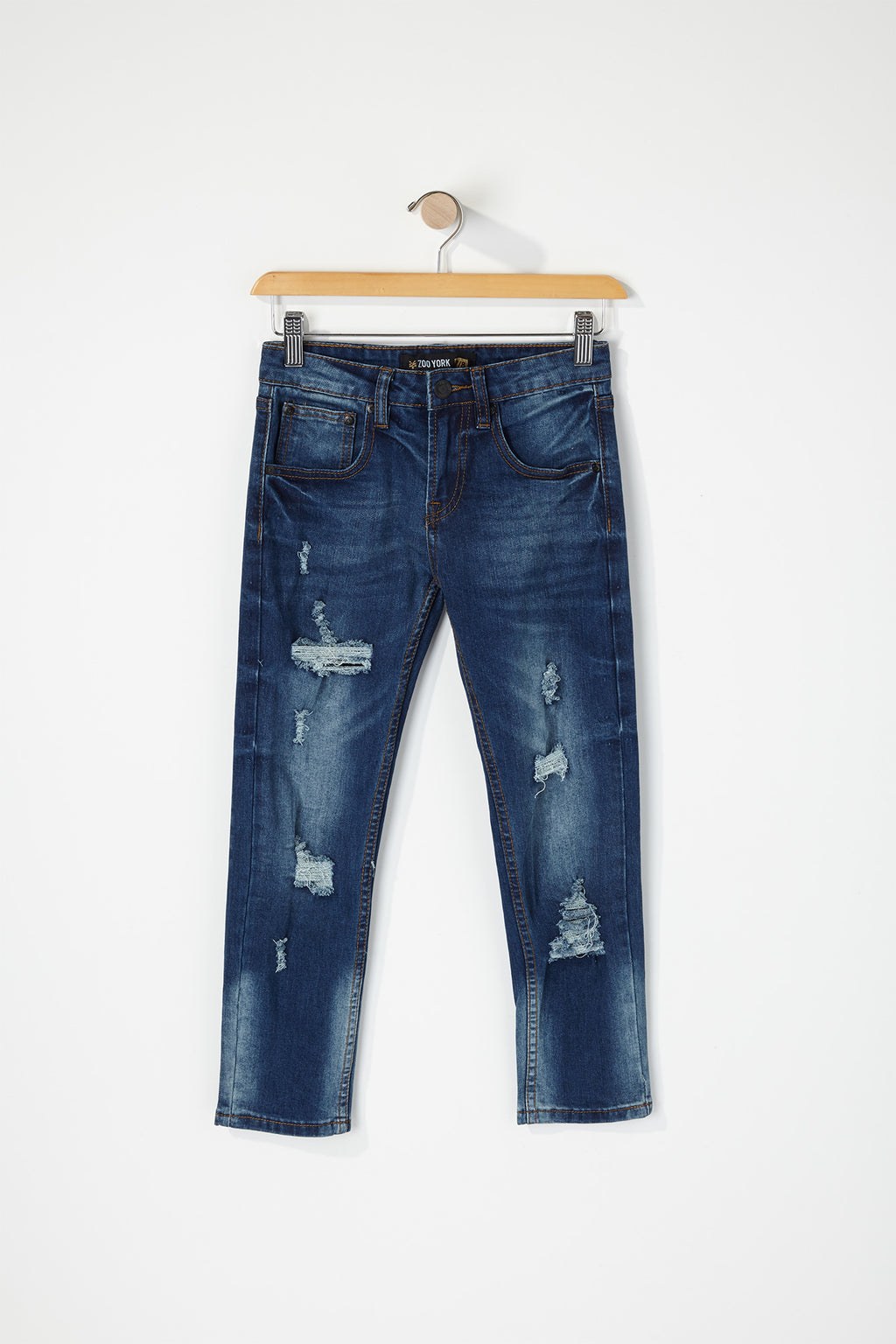 Zoo York Boys Distressed Skinny Jeans