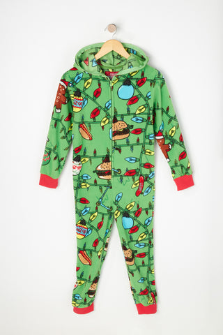 Boys Christmas Lights Onesie