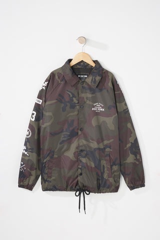 Zoo York Boys Camo Coach Jacket
