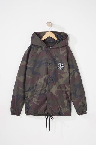 Zoo York Boys Hooded Camo Coach Jacket