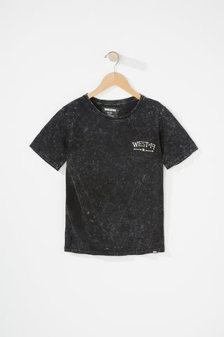 Evolve X West 49 Youth Black Skull Tee