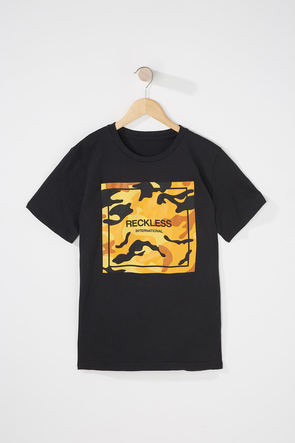 Young & Reckless Boys Orange Camo Tee