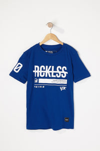 Young & Reckless Boys Strike-Through Logo T-Shirt