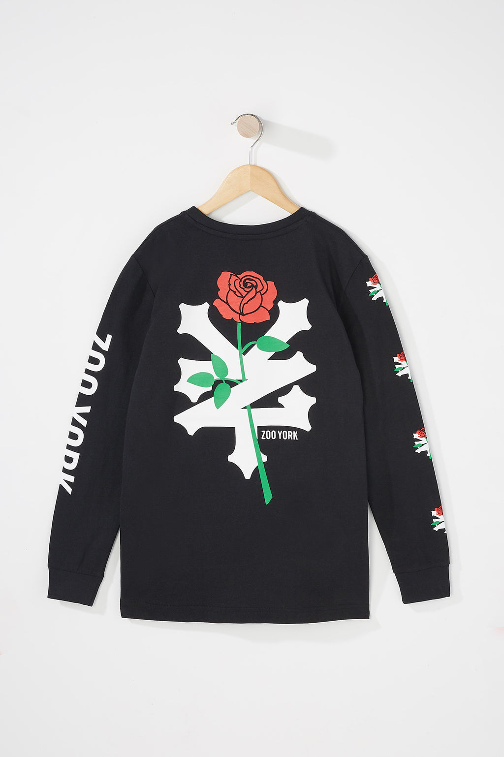 Zoo York Boys Rose Logo Long Sleeve T-Shirt