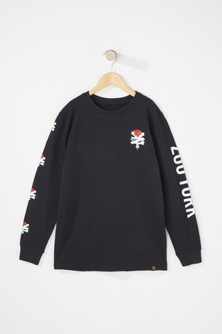 Zoo York Boys Rose Long Sleeve Tee
