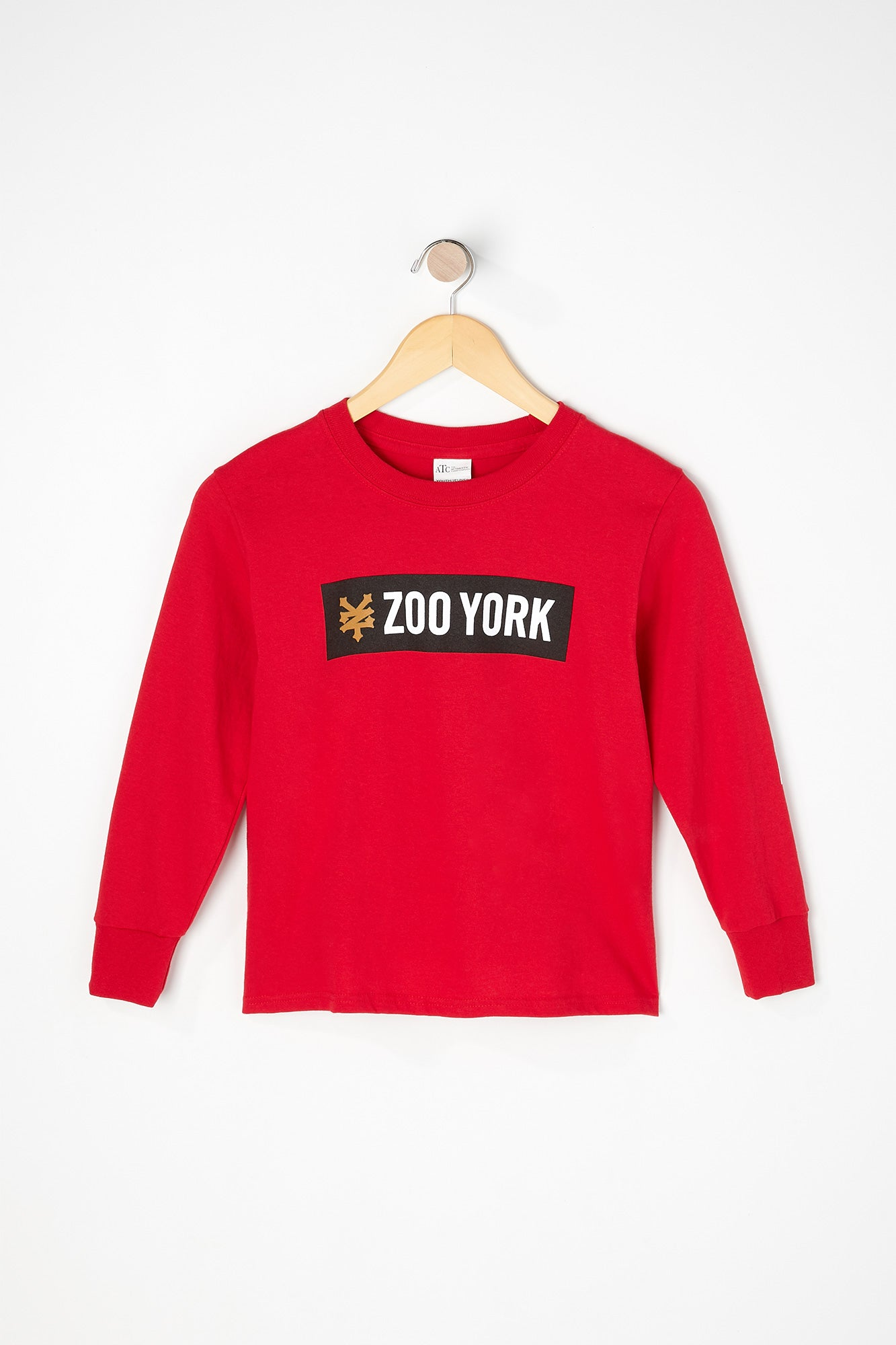 Zoo York Boys Bar Logo Long Sleeve