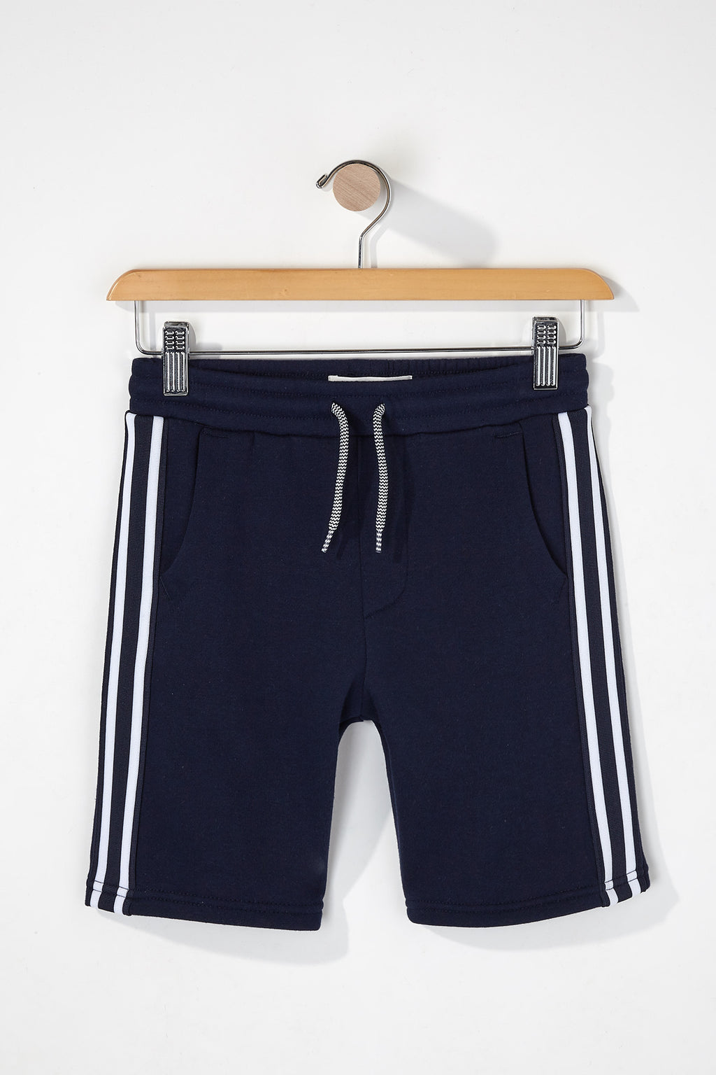 Boys Side Stripe Fleece Shorts