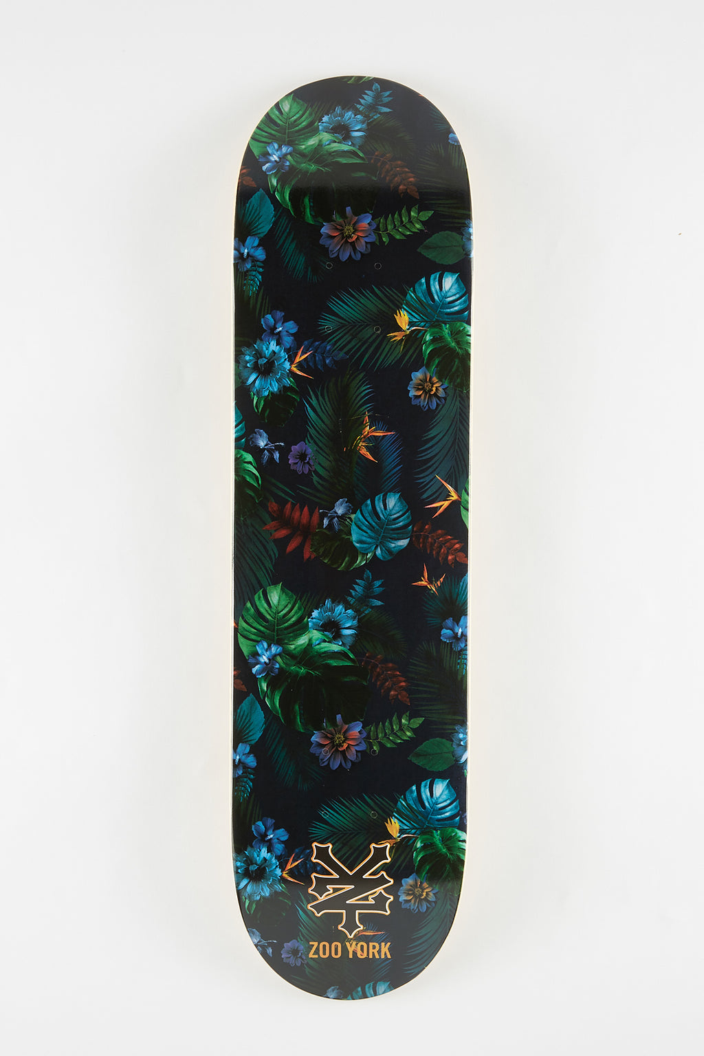 Zoo York Dark Floral Skateboard Deck 8""
