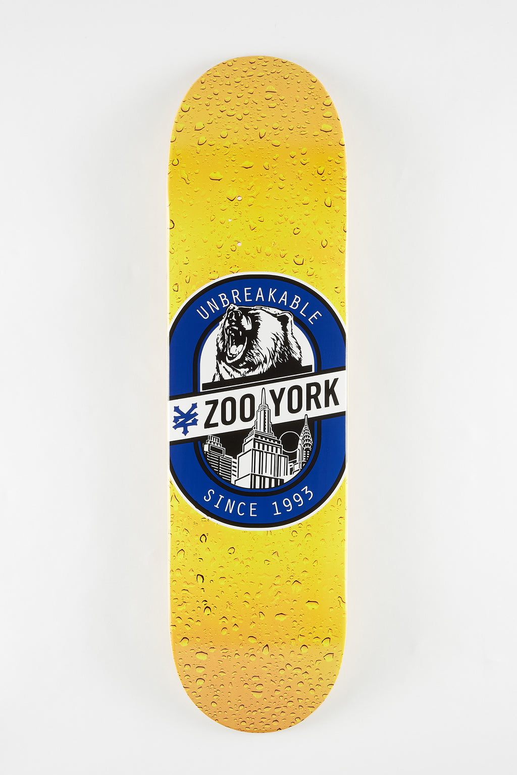 Zoo York Beer Logo Skateboard Deck 8.3""