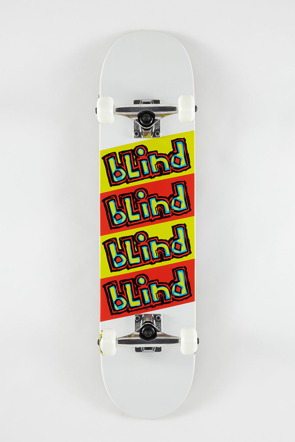 Blind White Incline Skateboard 7.625""