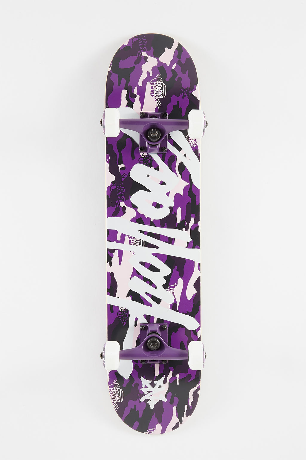 Zoo York Purple Camo Tag Skateboard - 7.5""
