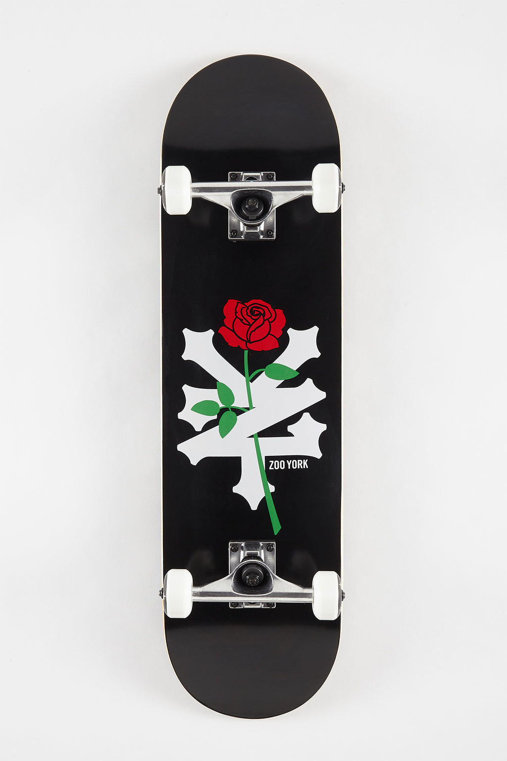 Zoo York Red Rose Skateboard 8.25""