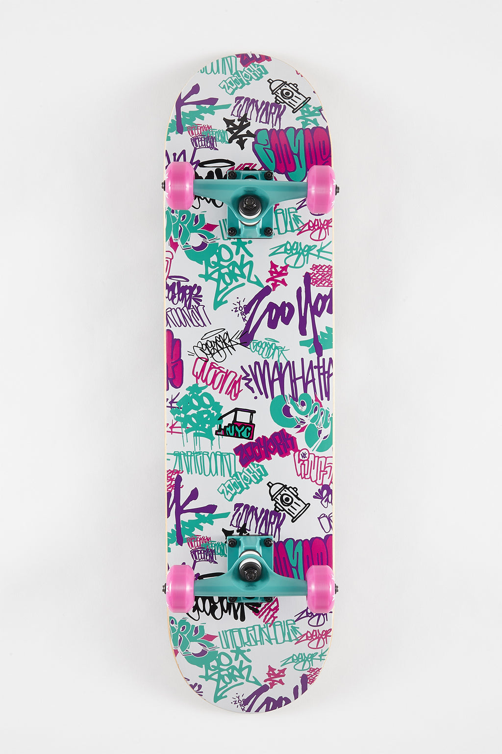 Zoo York Graffiti Tags Skateboard 7.75""