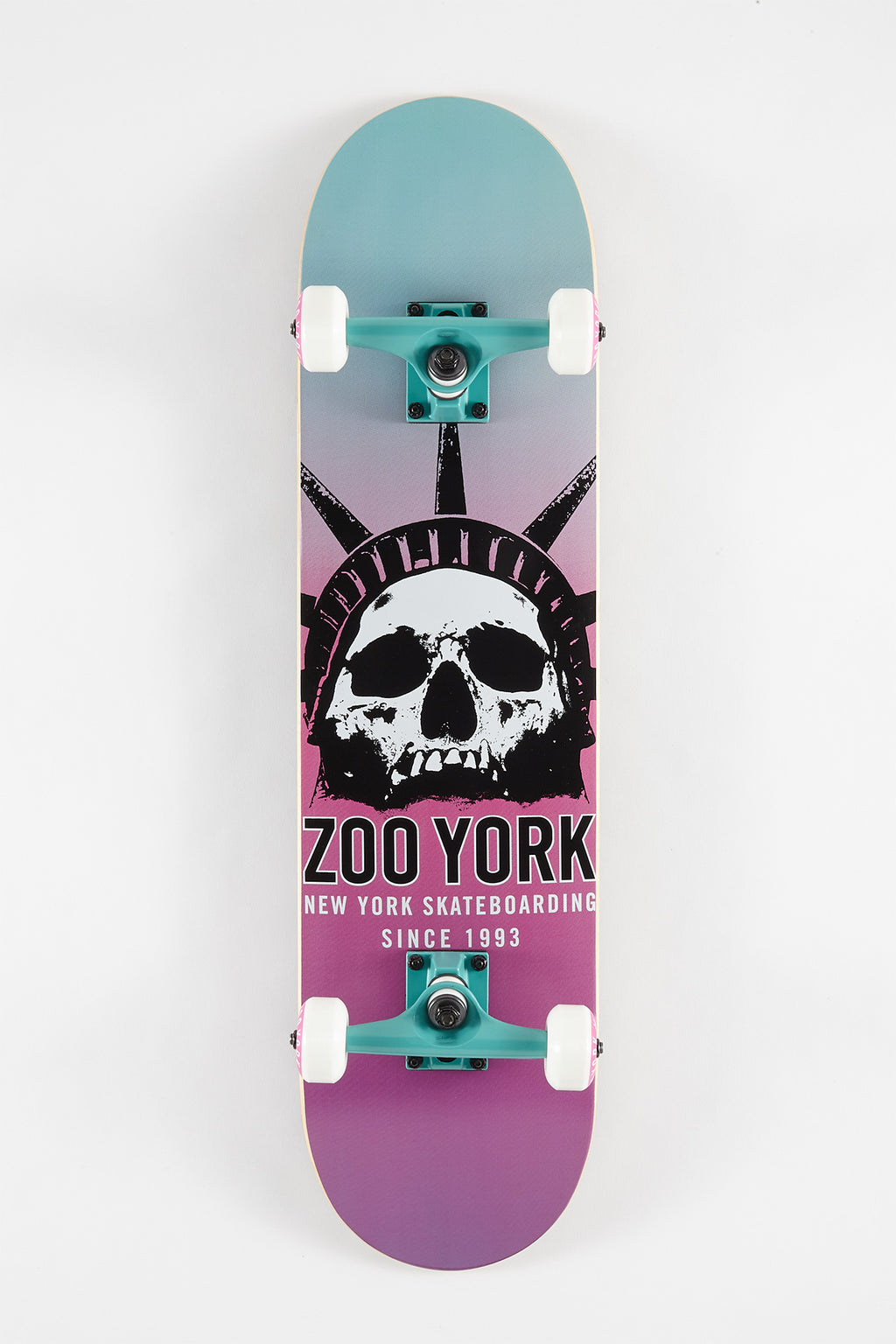 Zoo York Faded Skull Skateboard 7.75""