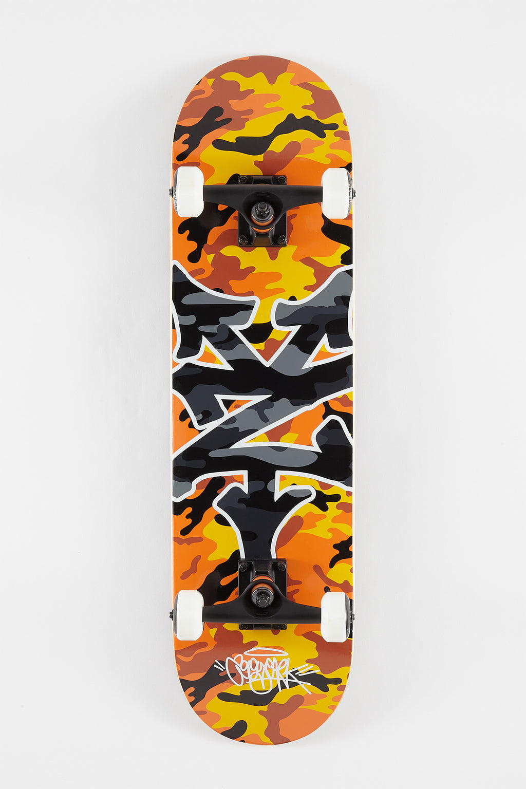 Zoo York Orange Camo Skateboard - 8""