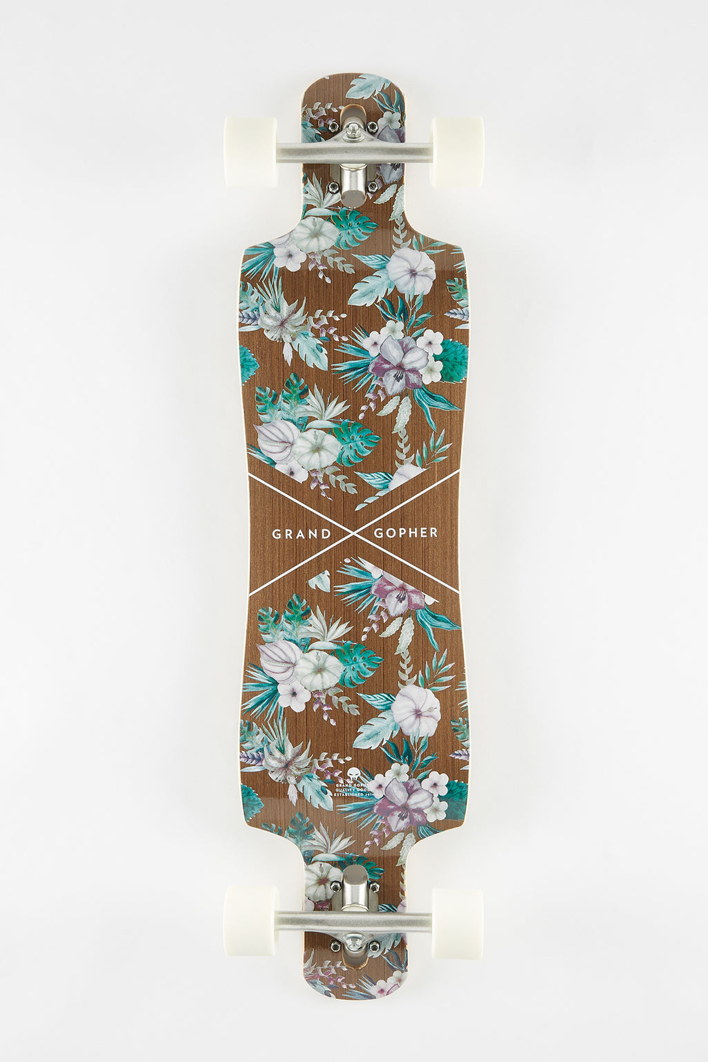 "Grand Gopher Floral 39"" Longboard"