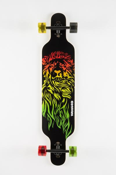 Zoo York Rasta Lion Longboard 42""