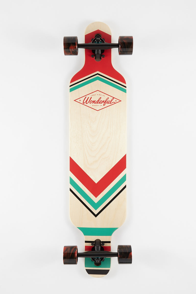 Wonderful Striped Longboard - 40""