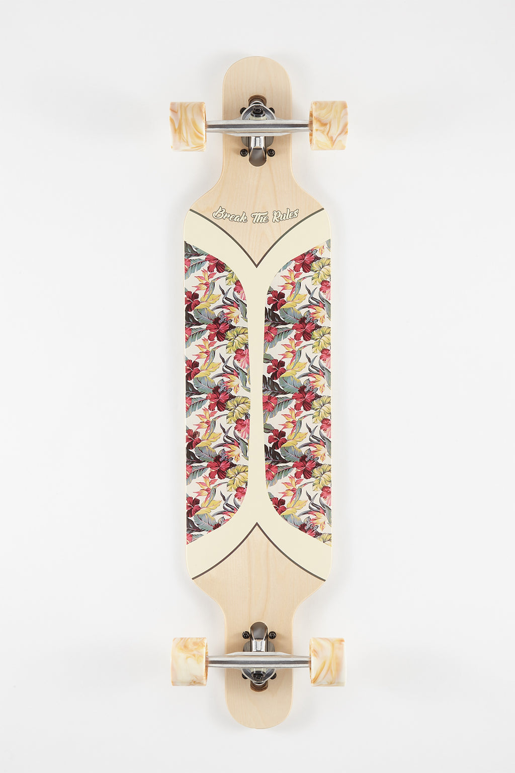 Old Floral Stain Longboard - 42""