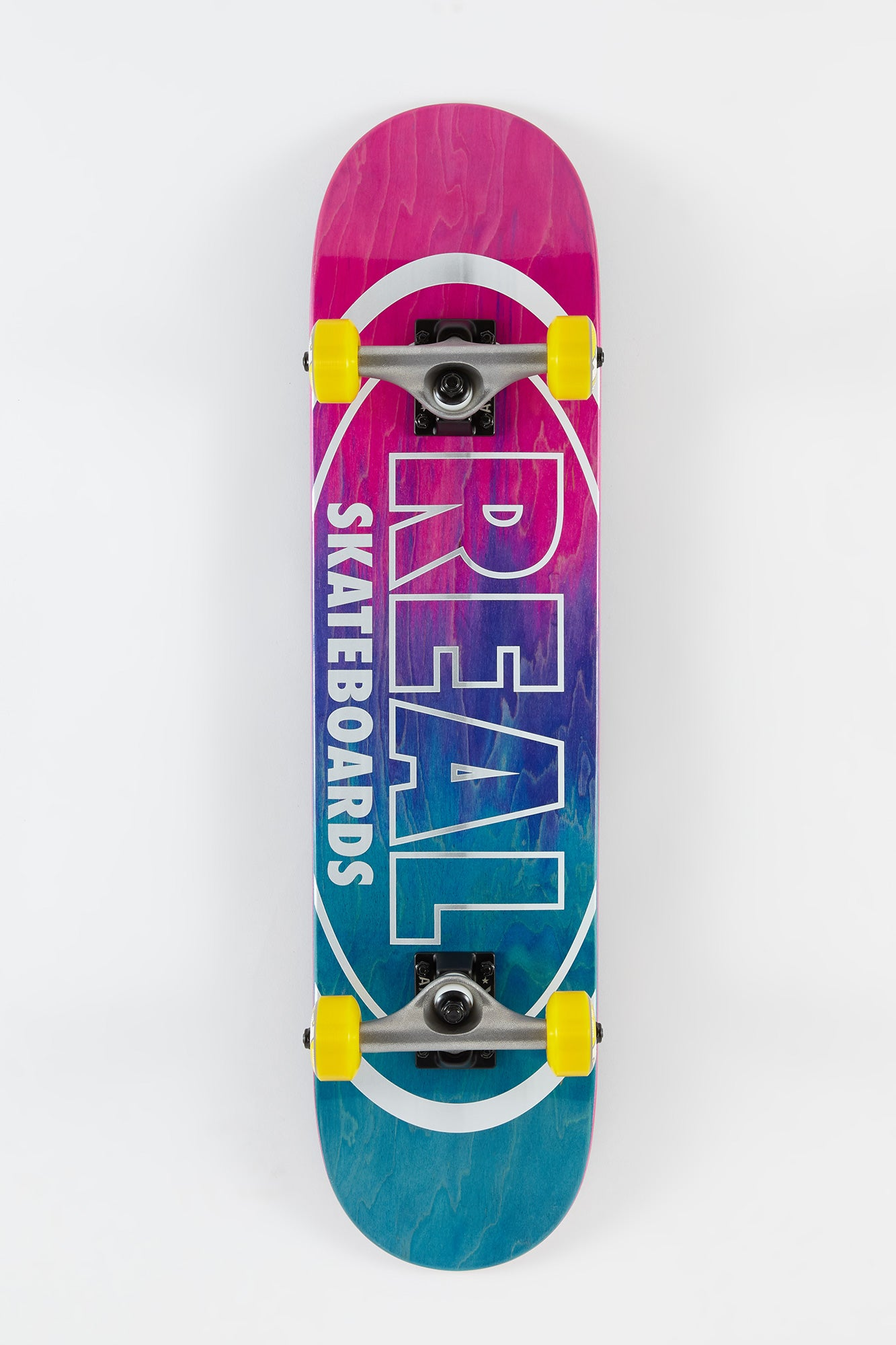 "Real Metal Oval Fade 7.5"" Complete Skateboard"
