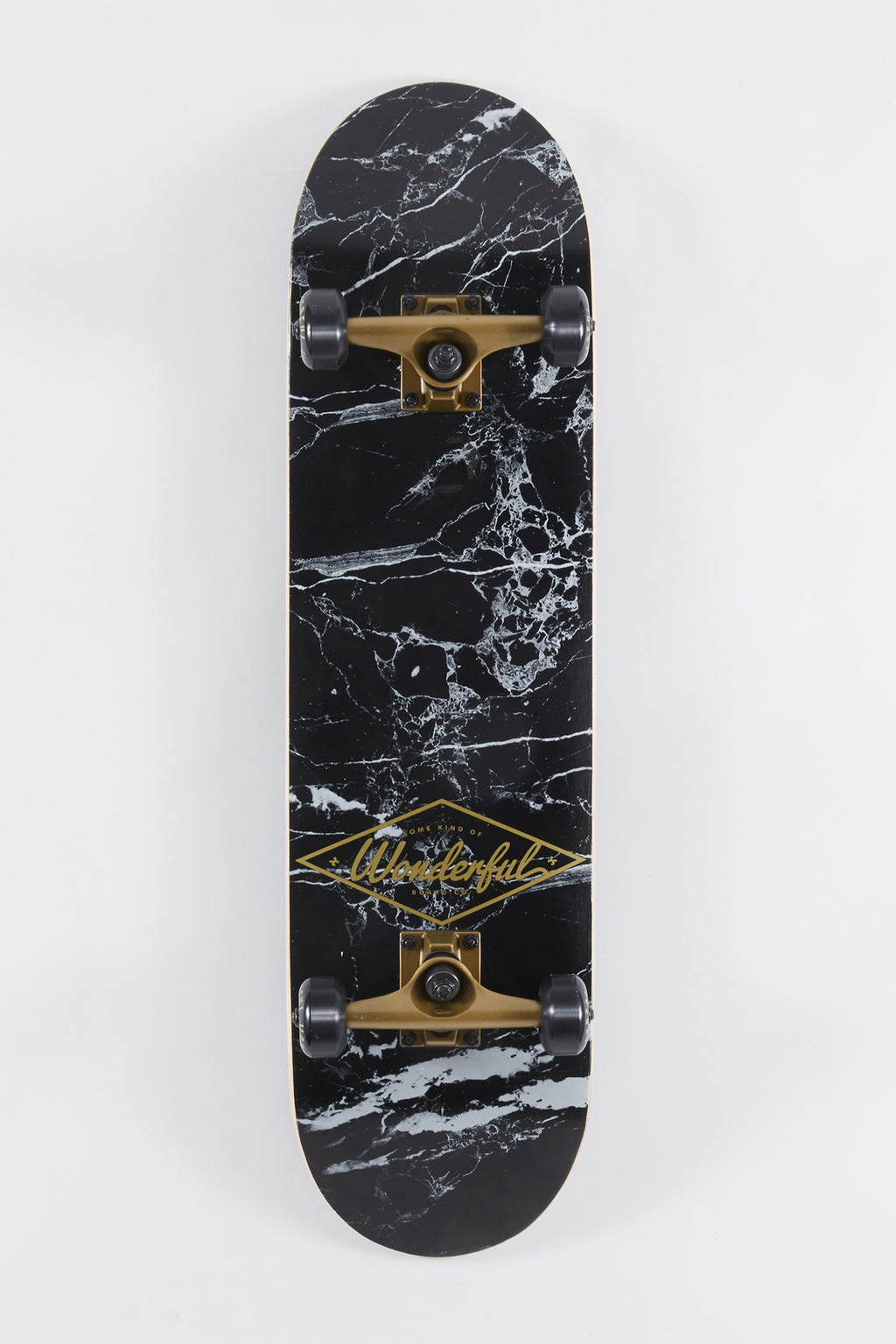 Wonderful Black Marble Skateboard 8""