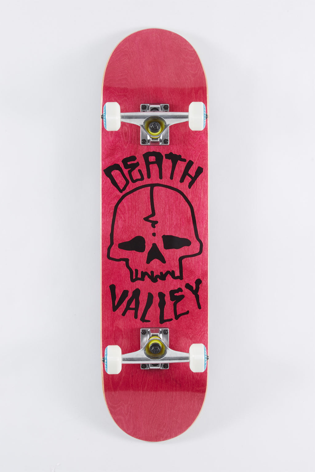 Death Valley Pink Skull Skateboard 8""