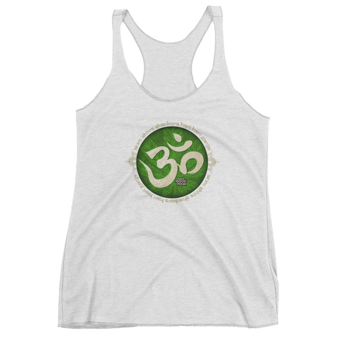 Canna-Yoga Aum // Women's Fitted Raw Edge Tank