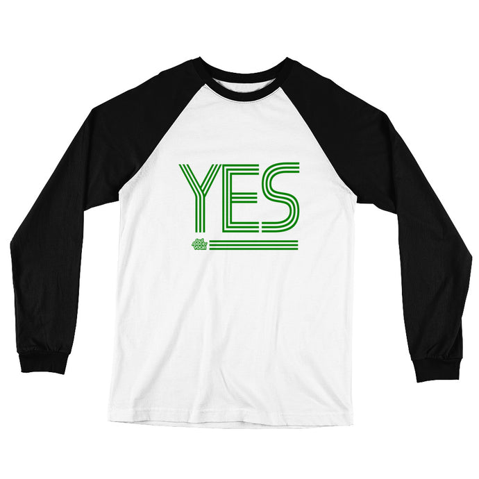 YES //  Men's Long Sleeve Baseball Style T-Shirt