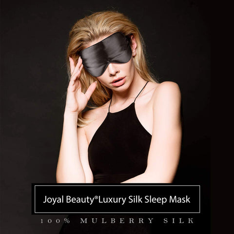 Joyal Beauty Luxury 100% Pure Mulberry Silk Sleep Eye Mask. Premium Grade 6A 19 Momme Silk.
