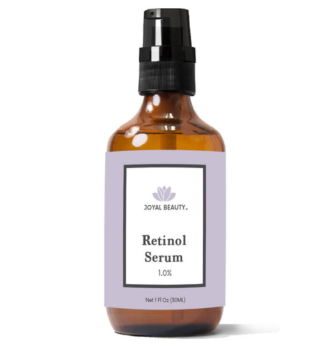 Organic Retinol Serum for Face Skin Eyes. Best for Anti-Aging Firming Fine Lines Wrinkles Acne Pores. Advanced Night Serum Effective as Retin-a and Gentle. 1.0%.