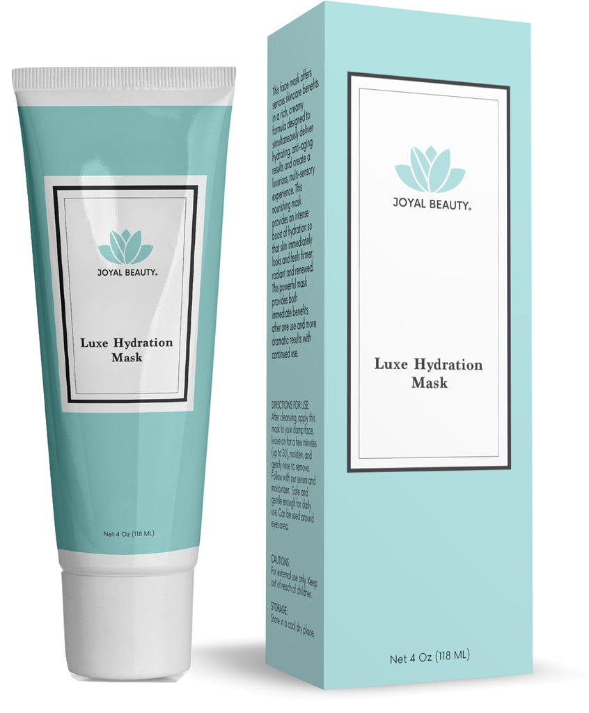 Organic Luxe Hydration Facial Face Mask with Hyaluronic Acid. Best Moisturizing Firming Cooling Purifying Spa Treatment for Dry Dull Skin. Daily Wash-off Masque for Men and Women.