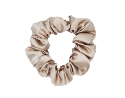 Luxury Pure Silk Hair Scrunchies - 100% Pure Mulberry Silk 22 Momme Scrunchies Hair Tie Bow with Elastic Band. Best for Women Girls Thick Hair.