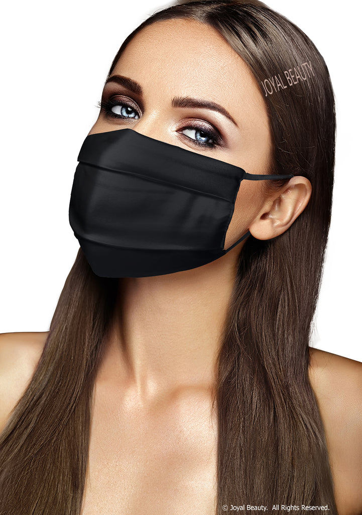 Joyal Beauty®100% Pure Mulberry Silk Face Mask Face Covering Made in USA. Reusable Washable Breathable Comfortable 2 Layers. Adjustable Ear Loops.