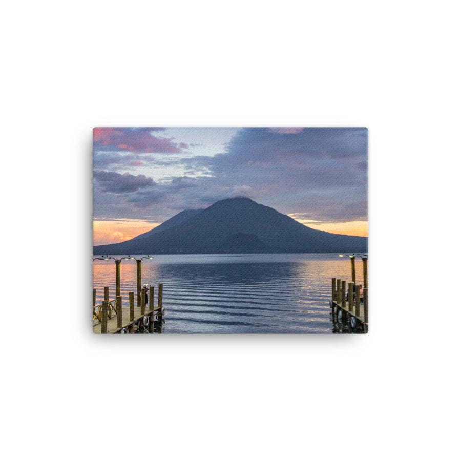 LAKE ATITLAN SUNSET CANVAS - Roberto Destarac Photography
