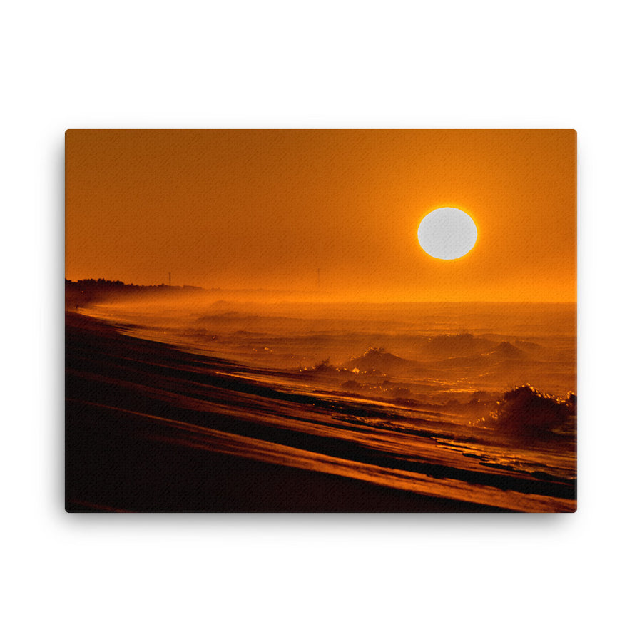 ORANGE SUNRISE CANVAS - Roberto Destarac Photography