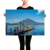DOCK ON LAKE ATITLAN - Canvas - Roberto Destarac Photography