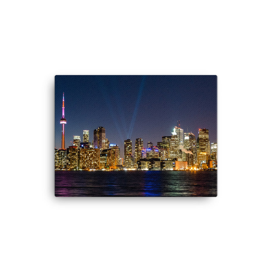 TORONTO SKYLINE AT NIGHT CANVAS - Roberto Destarac Photography